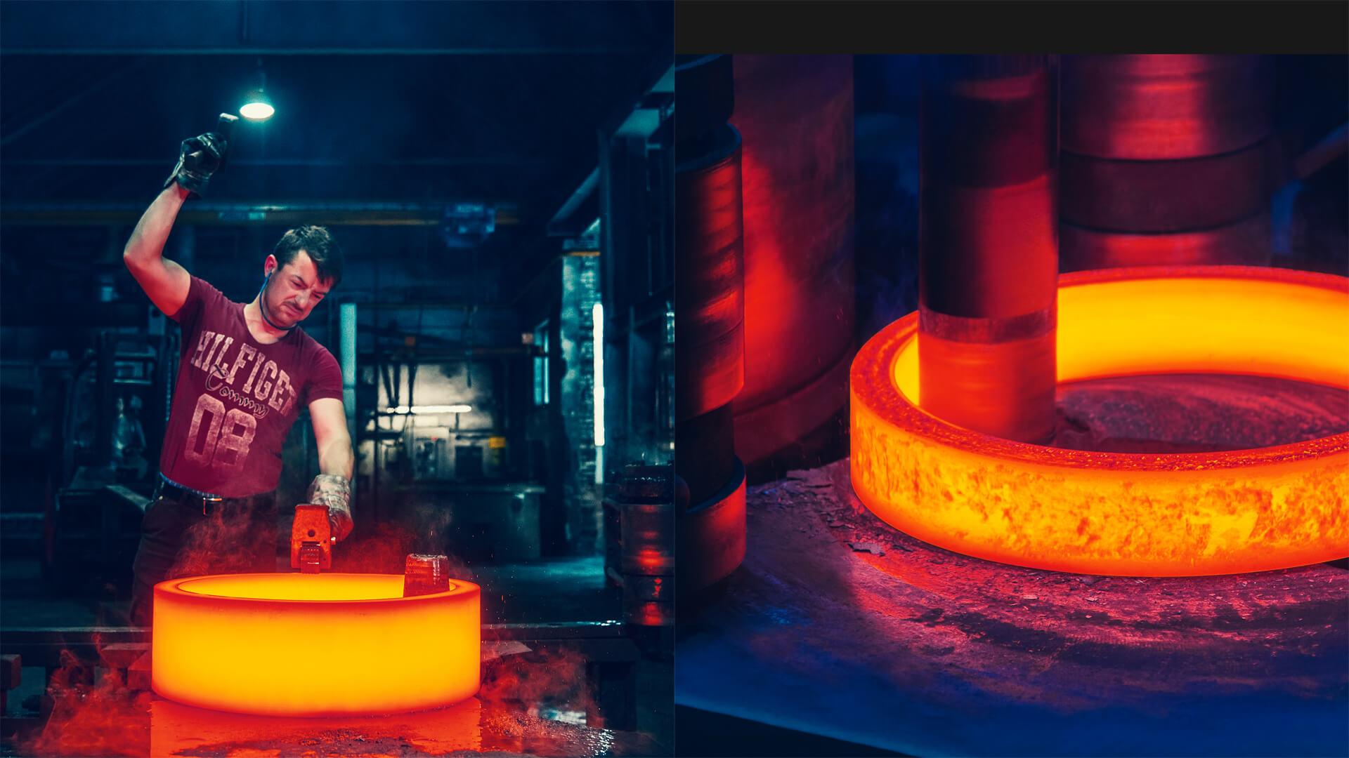 Schmiede-Technik - Stahlbearbeitung - Vergütung und Formgebung - 80 Jahre Erfahrung - Leppe Edelstahl | Chr. Höver & Sohn GmbH & Co. KG - Lindlar