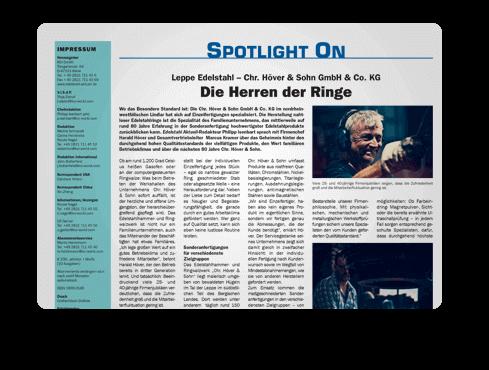 Die Herren der Ringe - Chr. Höver & Sohn GmbH - Presseartikel