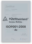 ISO 9001 : 2008 | AD 2000-WO| KTA 1401 | AVS D 100/50 | Zertifizierte Qualität in der Schmiedetechnik und Stahlverarbeitung | Chr. Höver & Sohn GmbH